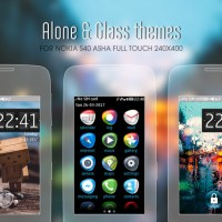 Alone and Glass theme asha 310 309 308 full touch 240x400