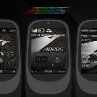 Aorus theme with battery and signal indicator theme X2-00