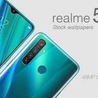 Realme 5 Pro stock wallpaper 1080x2340 pixels
