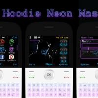 Hoodie neon mask swf digital clock theme X2-01 C3-00