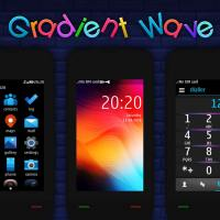 Gradient wave theme Asha 311 310 full touch