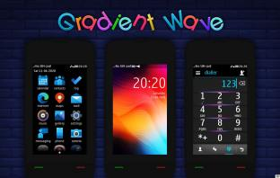Gradient wave theme Asha 311 310 309 308 306 305 full touch