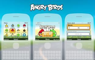 Angry Birds swf digital clock wallpaper theme X2-01 C3-00 Asha 302