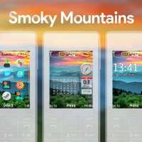 Smoky mountains swf monthly calendar with sidebar clock theme X2-00 6300 5130 X2-02