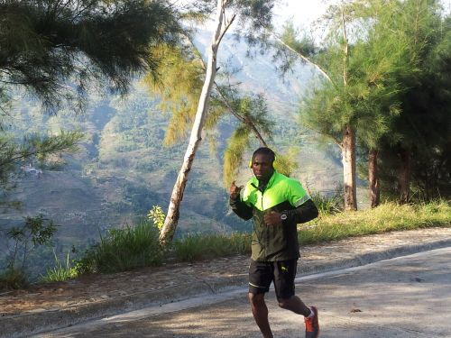 "The Axeman"" Walters prepares in Haiti mountains"