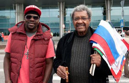 Felino Jones y Don King en Moscú