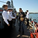 Chudinov and Bouadla met at a Russian ship