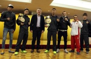 WBA Tripleheader Final Presser. Photos Sumio Yamada