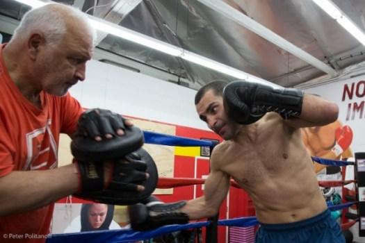 Photos: Vic Darchinyan Putting in Work For Jesus Cuellar