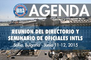 Agenda: Reunión del Directorio AMB en Sofia, Bulgaria