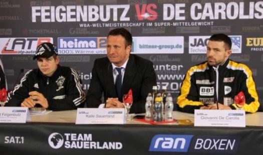 Feigenbutz vs. De Carolis final press conference