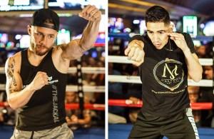 Carl Frampton vs Leo Santa Cruz Open Workouts in Las Vegas