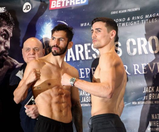 Linares and Crolla are on weight