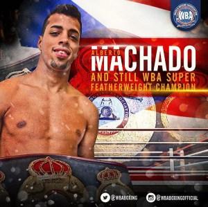 Alberto Machado – WBA Honorable Mention October 2018