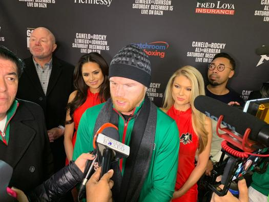 Canelo and Fielding prefer to speak in the ring this Saturday