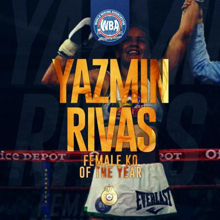 Yazmin Rivas earns WBA female knockout of the year honors