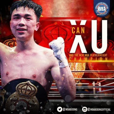 Can Xu WBA Featherweight World Champion