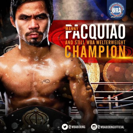 Manny Pacquiao – Boxer of the month January 2019