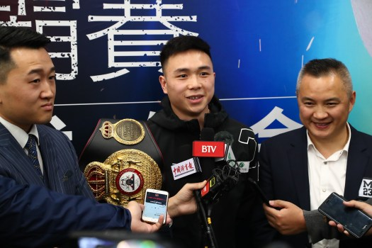 Can Xu vs. Shun Kubo first press conference in M23 Boxing Gym of Beijing