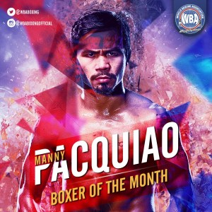 Manny Pacquiao– Boxeador del mes de julio 2019