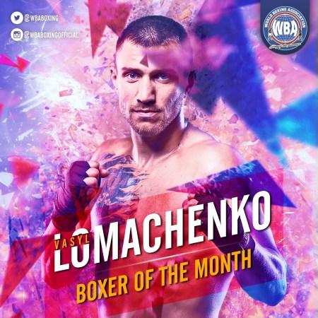 Vasyl Lomachenko– Boxer of the month August 2019