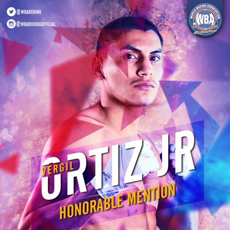 Vergil Ortiz Jr.– WBA Honorable Mention August 2019