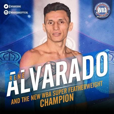 Rene Alvarado is the new WBA world champion