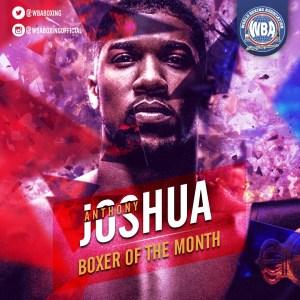 Anthony Joshua- Boxeador del mes de diciembre 2019