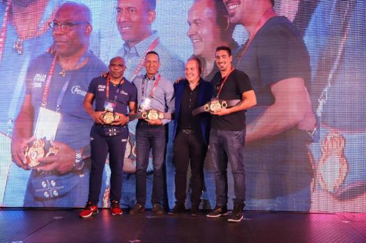 WBA honored Sumbu Kalambay with Mini Belt