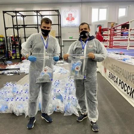 Federación Rusa de Boxeo pone su grano de arena en la lucha contra el Covid-19
