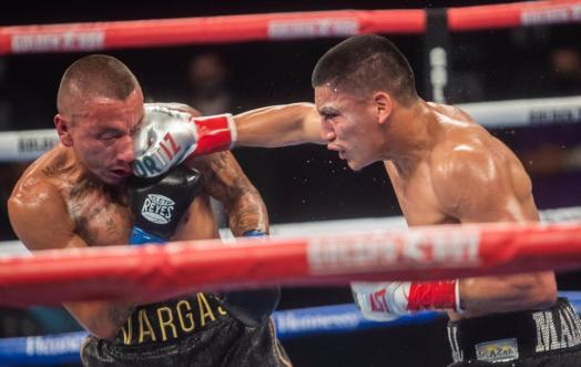Ortiz knocked out Vargas and retained his WBA Gold belt in Indio