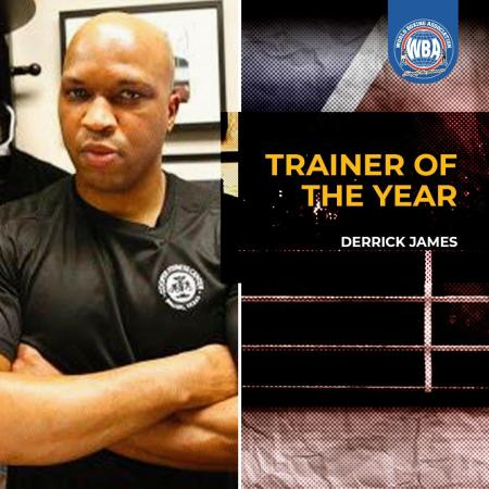 Derrick James is the WBA Trainer of the Year