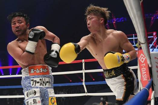 "Inoue put on a show at ""Legends"" charity event"