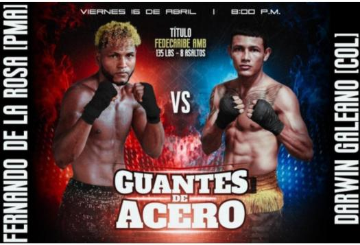 De La Rosa and Galeano will fight for the WBA-Fedecaribe belt on Friday