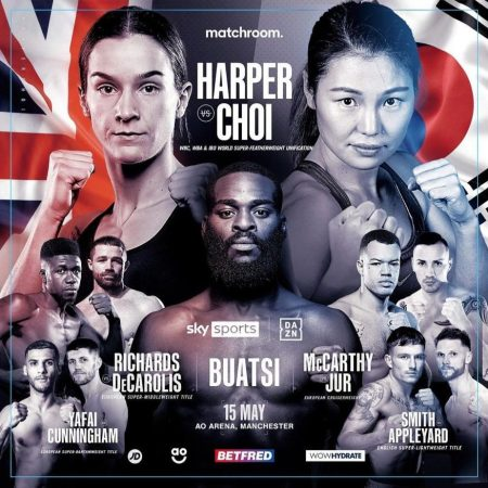 Choi-Harper to unify on May 15 in Manchester