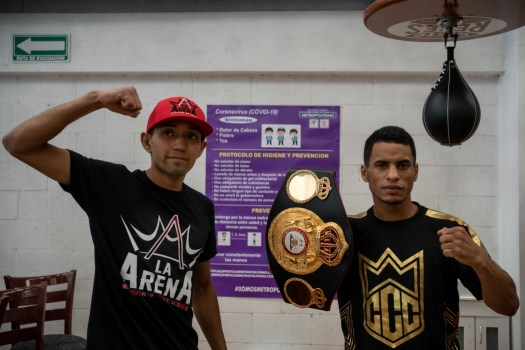 Cañizales and Bermudez went face to face at press conference