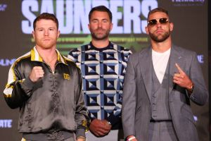 Canelo and Saunders went face to face in Texas