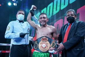 Bermudez reached glory with a right punch