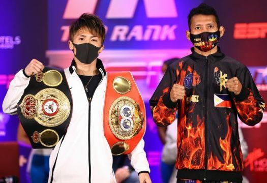 Inoue y Dasmarinas tuvieron su rueda de prensa en Las Vegas