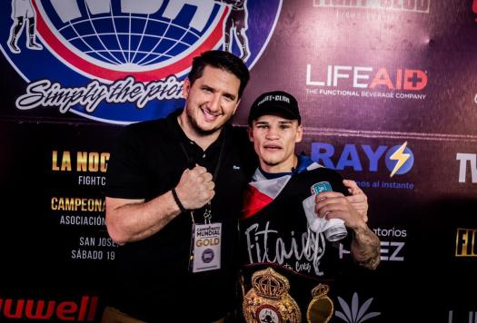 """Medallita"" Jimenez demolished Cano and is new WBA-Gold champion"