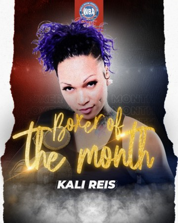 Reis is WBA Female Boxer of the Month