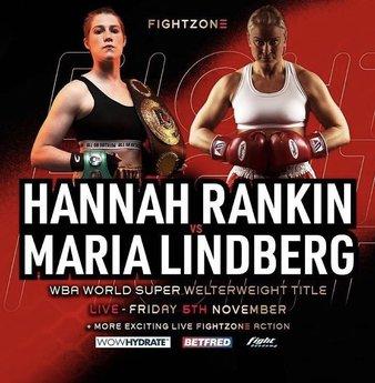 Hannah Rankin y María Lindberg se disputarán el cetro vacante WBA de las 154 libras