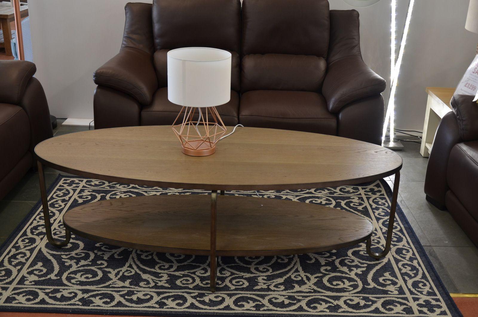 camden coffee table rustic oak metal industrial chic