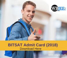 BITSAT Admit Card Released Download Here-www.wbjee.co.in