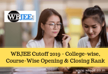 WBJEE Cutoff 2019 - College-wise, Course-Wise Opening & Closing Rank-www.wbjee.co.in