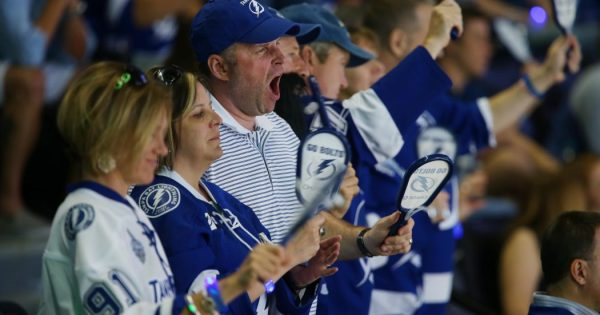 Sticks of Fire Tampa Bay Lightning fans