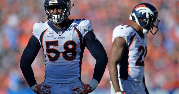 NFL Denver Broncos Week 8 MNF Outside Linebackers