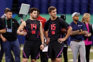 Baker Mayfield and Josh Rosen NFL Scouting Combine