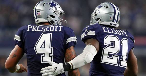 Dallas Cowboys Dak Prescott Ezekiel Elliot
