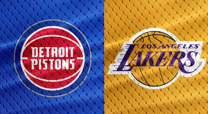 NBA Detroit Pistons at Los Angeles Lakers